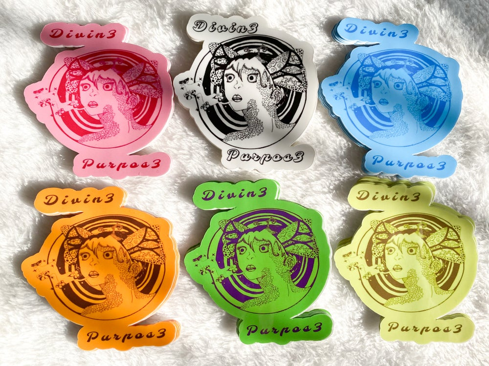 Image of 'Morpho Lady' Stickers