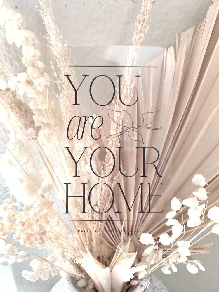 Image of Transparent Home Journal Card