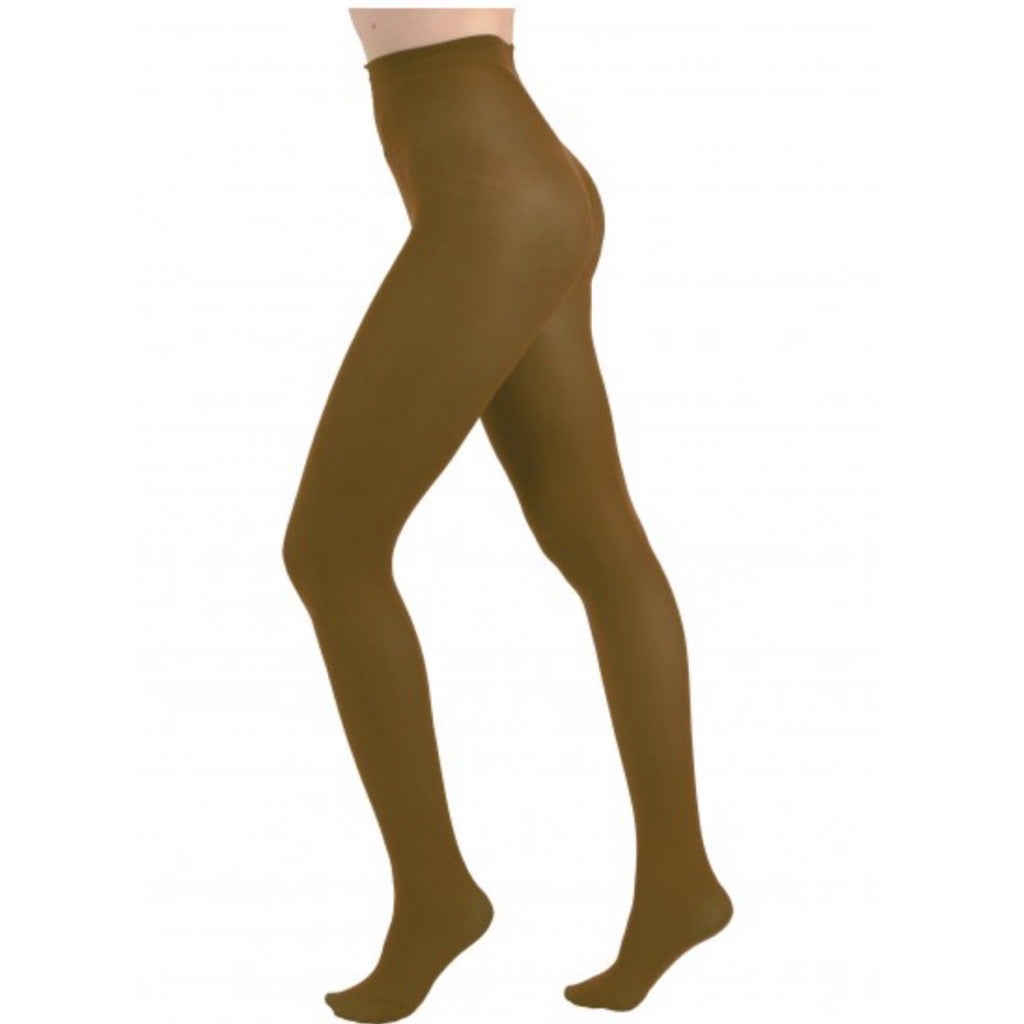 Dark Olive Opaque Tights with Free Postage