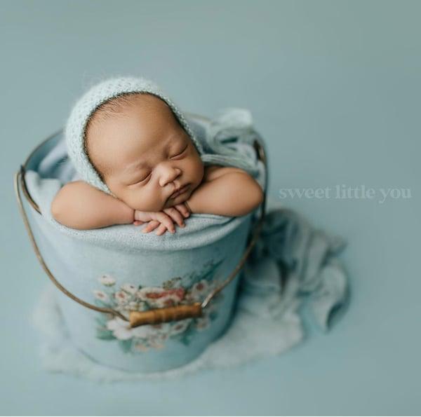 Image of Ice Blue Heirloom Bonnet