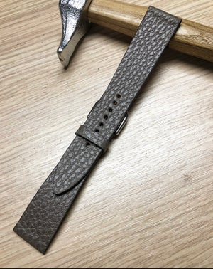 Image of Taupe Calfskin Watch Strap - hourglass cut -