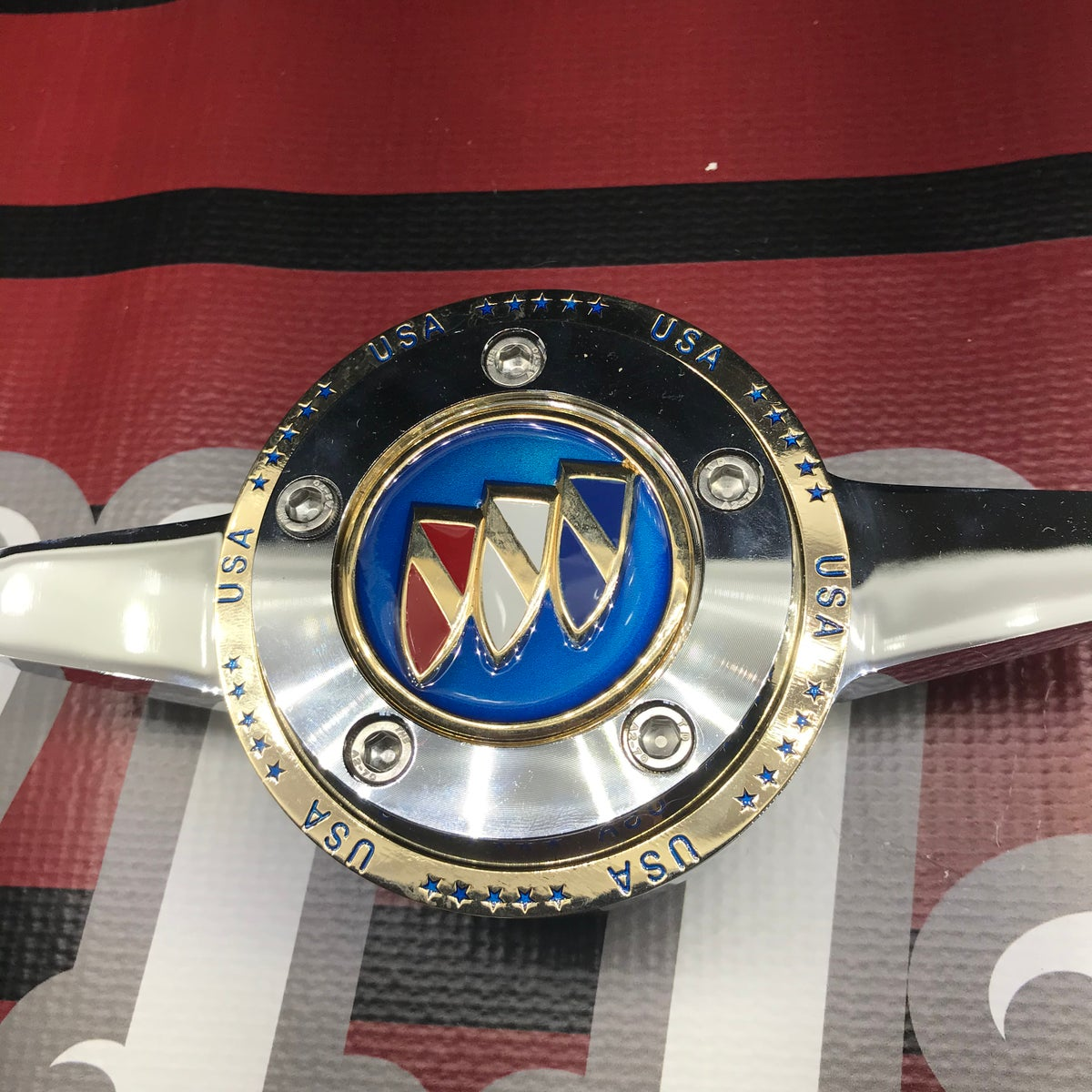 Image of Buick candy blue rings locking knock offs set