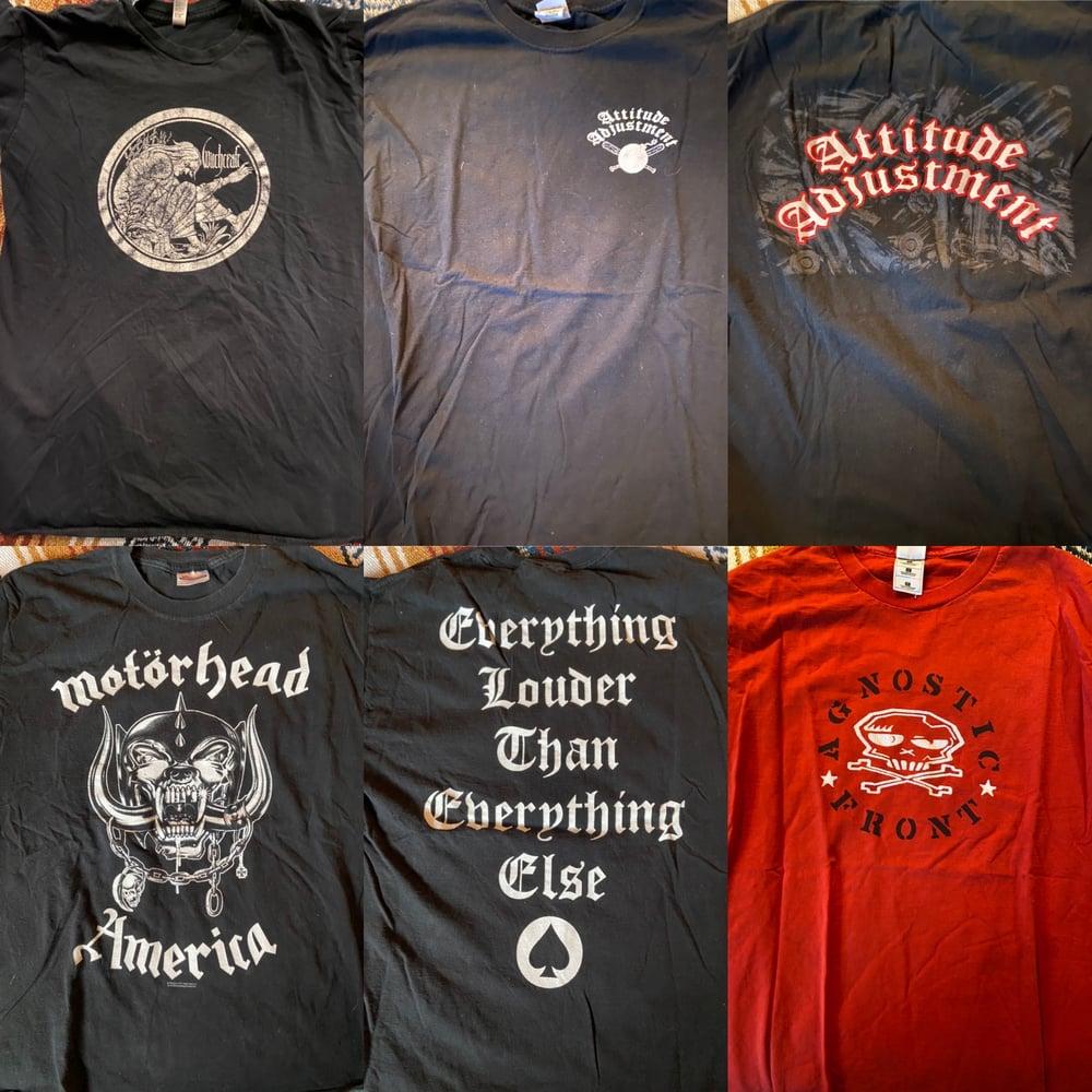 Image of Sacrilege BC, Agnostic Front,Attitude Adjustment,Ozzy,Motorhead,Sweaty Nipples