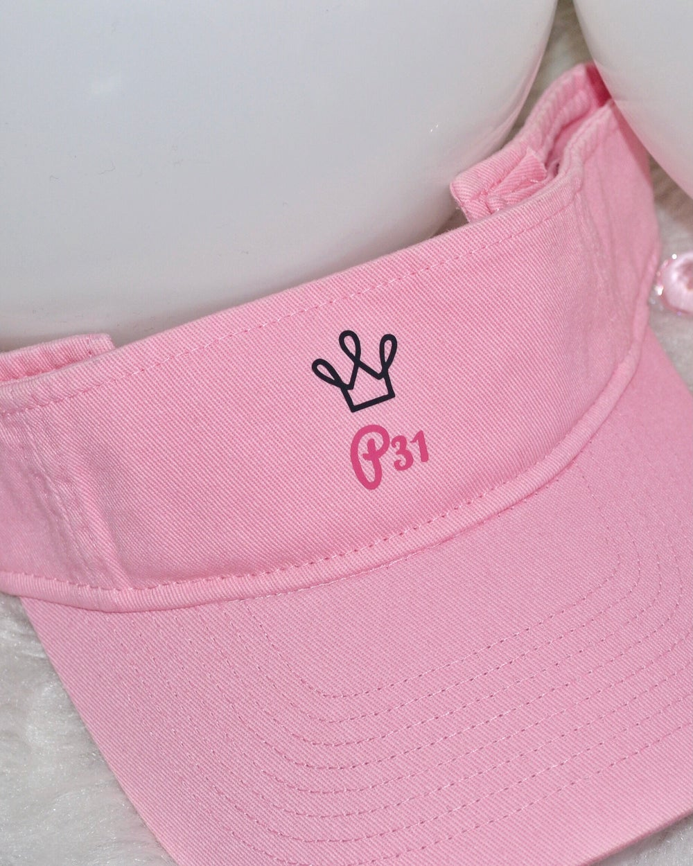 Image of The Proverbs 31 Retro Pink Visor
