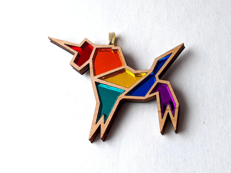 Rainbow Pride Unicorn Necklace