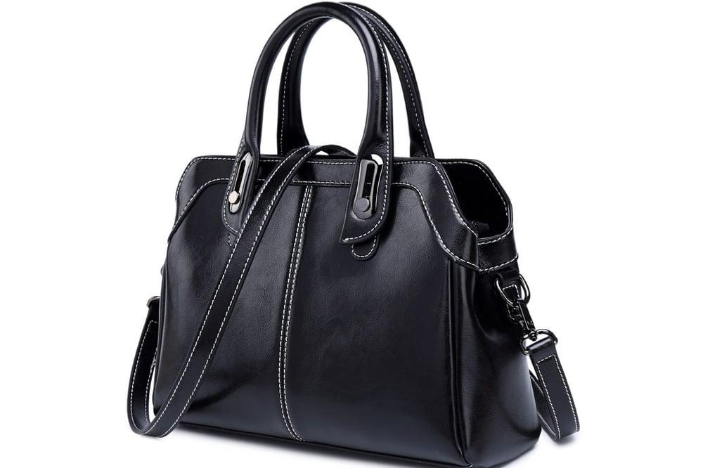 Image of Top Grain Leather Handbag Shoulder Bag Women Crossbody Bag SX638