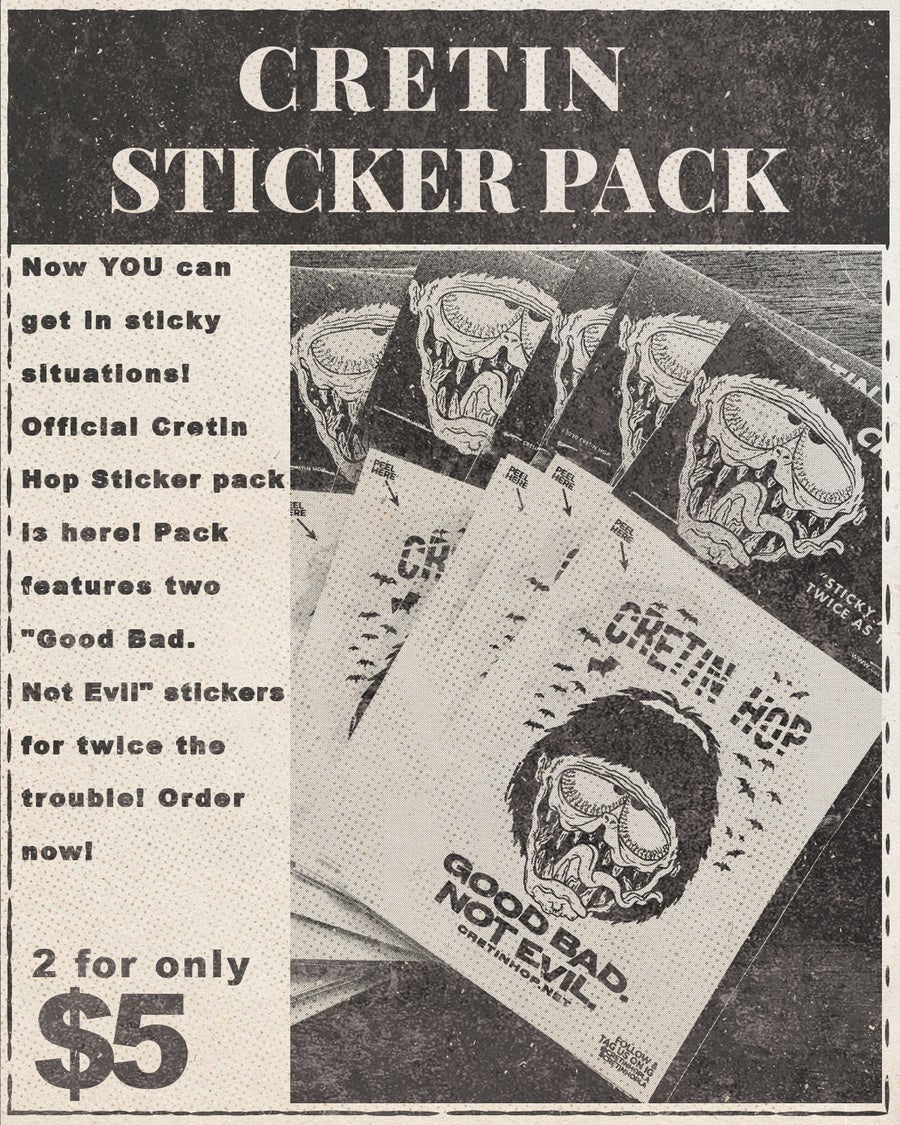 Image of Cretin Sticker Pack