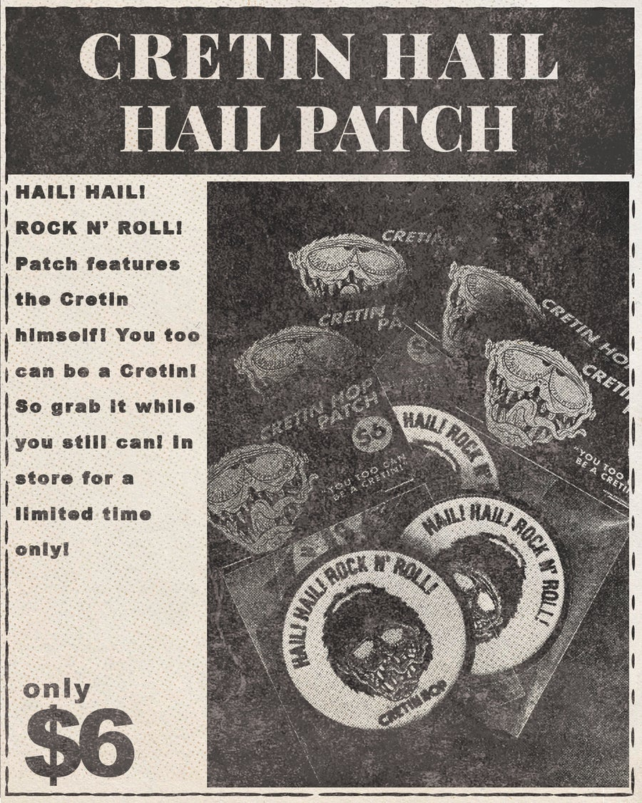 Image of Cretin Hail Hail Patch