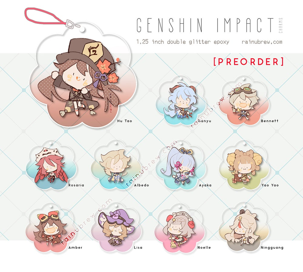 "Image of [PREORDER] *NEW* Genshin Impact - Set 2 | 1.25"" Gatcha Charms"
