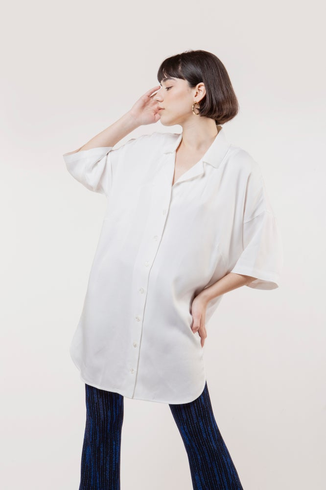 Image of MAXI CAMICIA MICHELA BIANCO