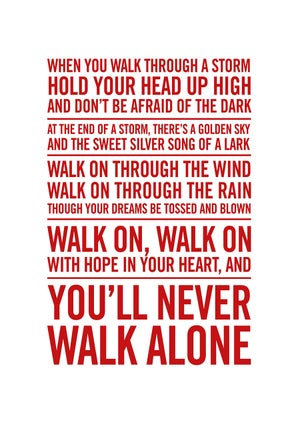Image of Liverpool FC Poster - You'll never walk alone