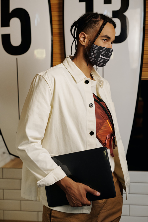 """Image of """"SORRY IM LATE I FORGOT MY MASK"""" - PB Reusable Face Mask"""