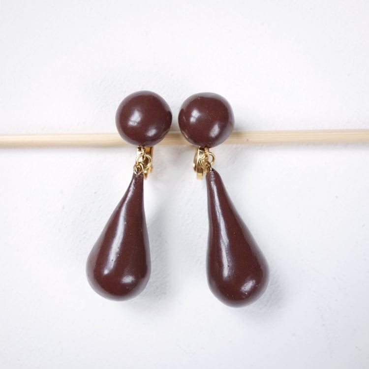 Image of Boucles d'oreilles Gouttes de Chocolat