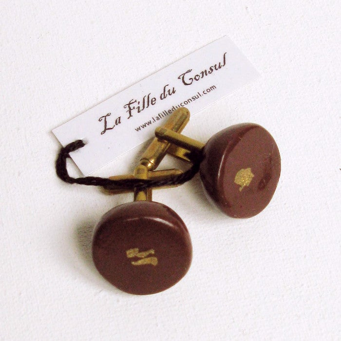 Image of Boutons de manchette Chocolats