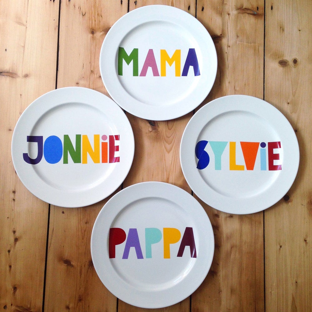 Image of Personalised Dinner Plate