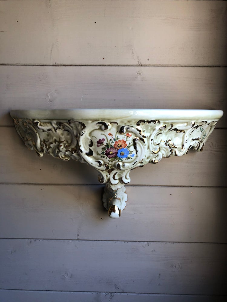 Image of Hand decorated ceramic shelf