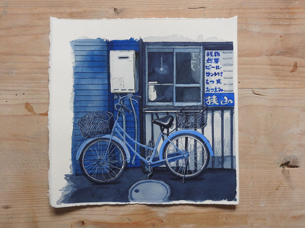 Image of Bicycle at the little bar - original