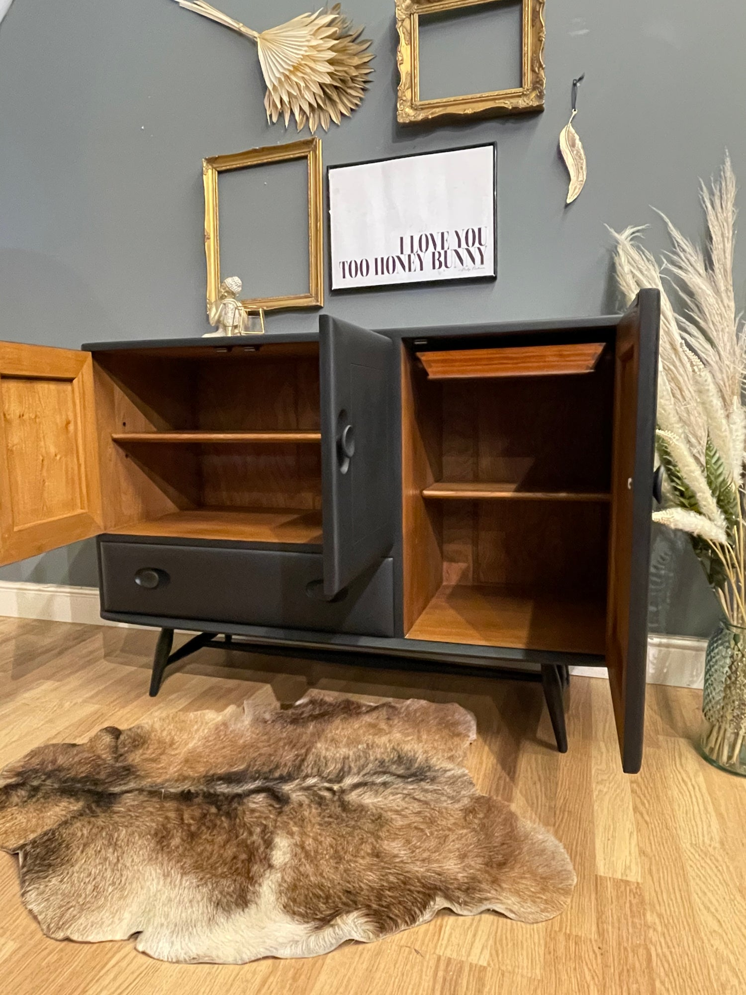 Image of Stunning all black  Ercol Windsor sideboard
