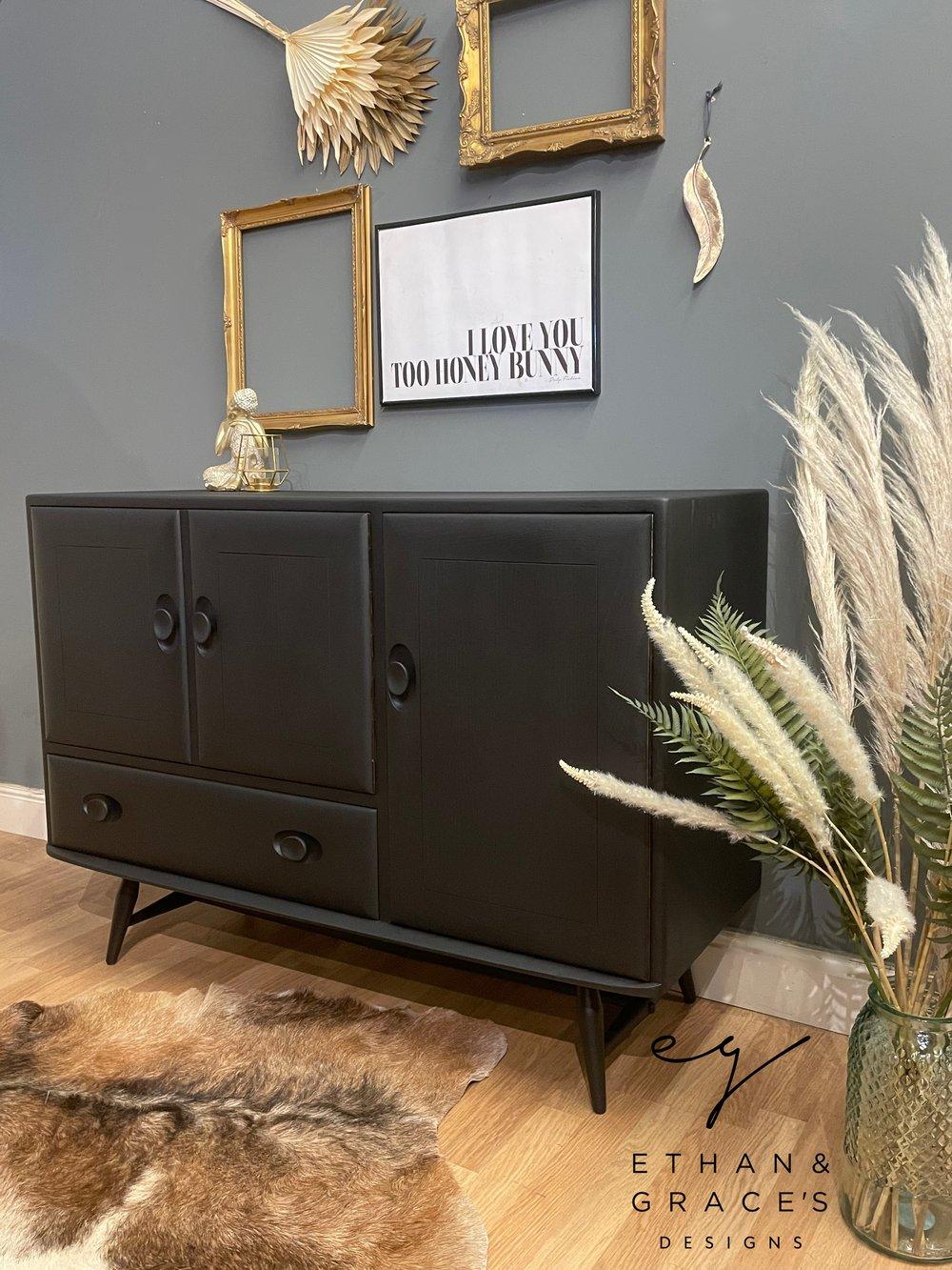 Image of Stunning all black  Ercol Windsor sideboard