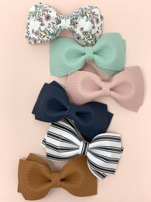 Image of New! Emma Faux Leather Bow