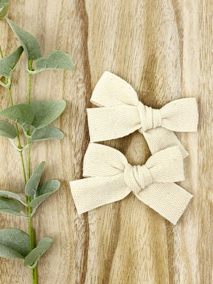 Image of New! Hand-Tied Twill Bow