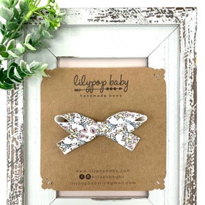 Image of New! Olivia Faux Leather Bow