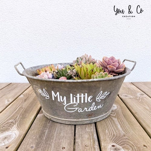 "Image of Sticker ou pochoir ""My little Garden"""