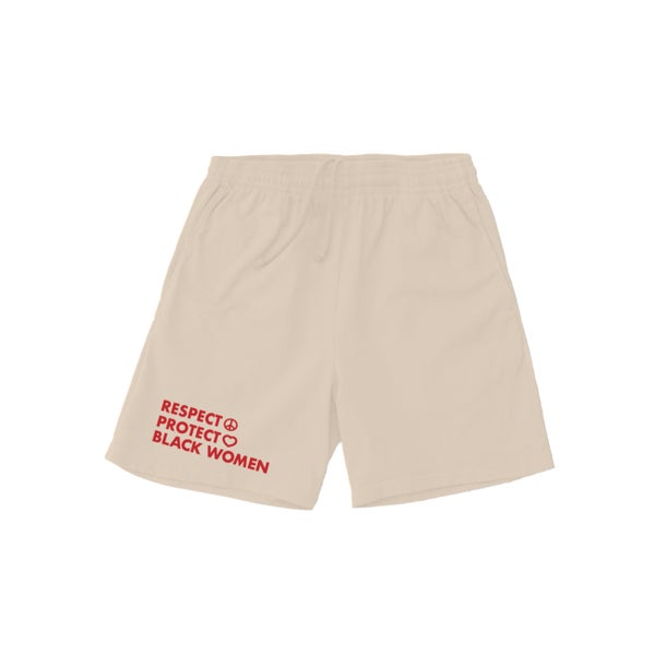 Image of Protect Black Women 6.5oz cotton shorts Cream