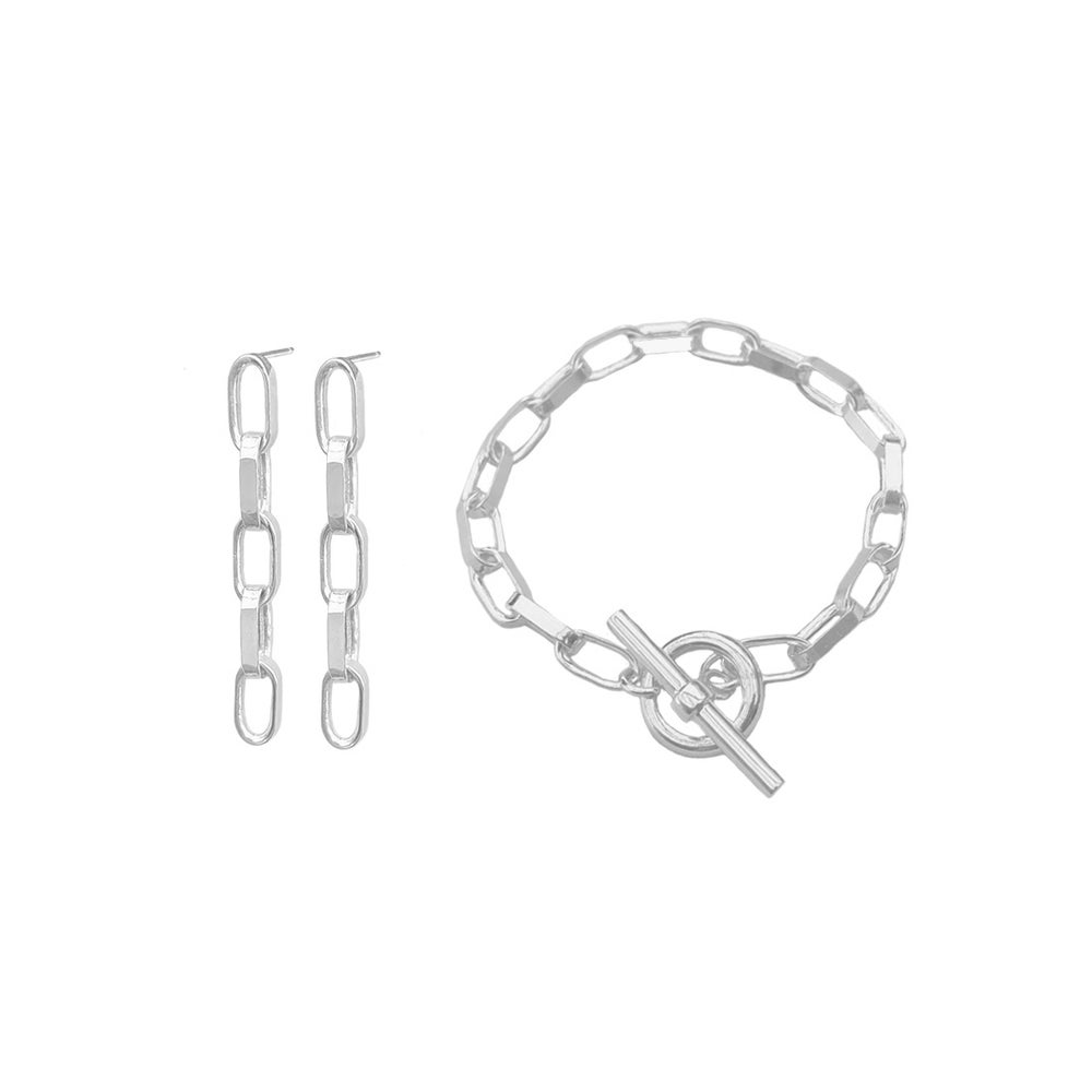 Image of Silver chunky chain set 2