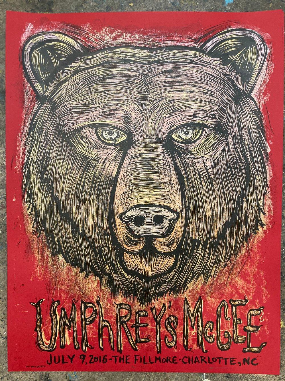 Umphreys McGee 2016 Charlotte N.C. poster