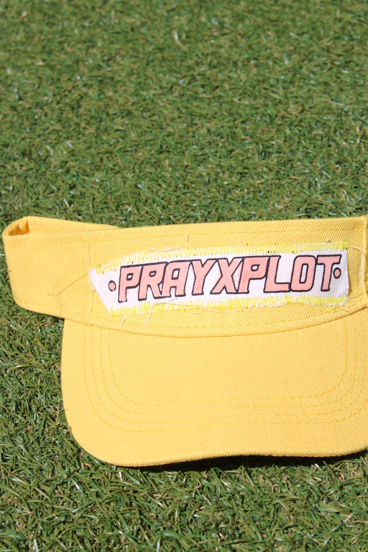 fire visor in yellow
