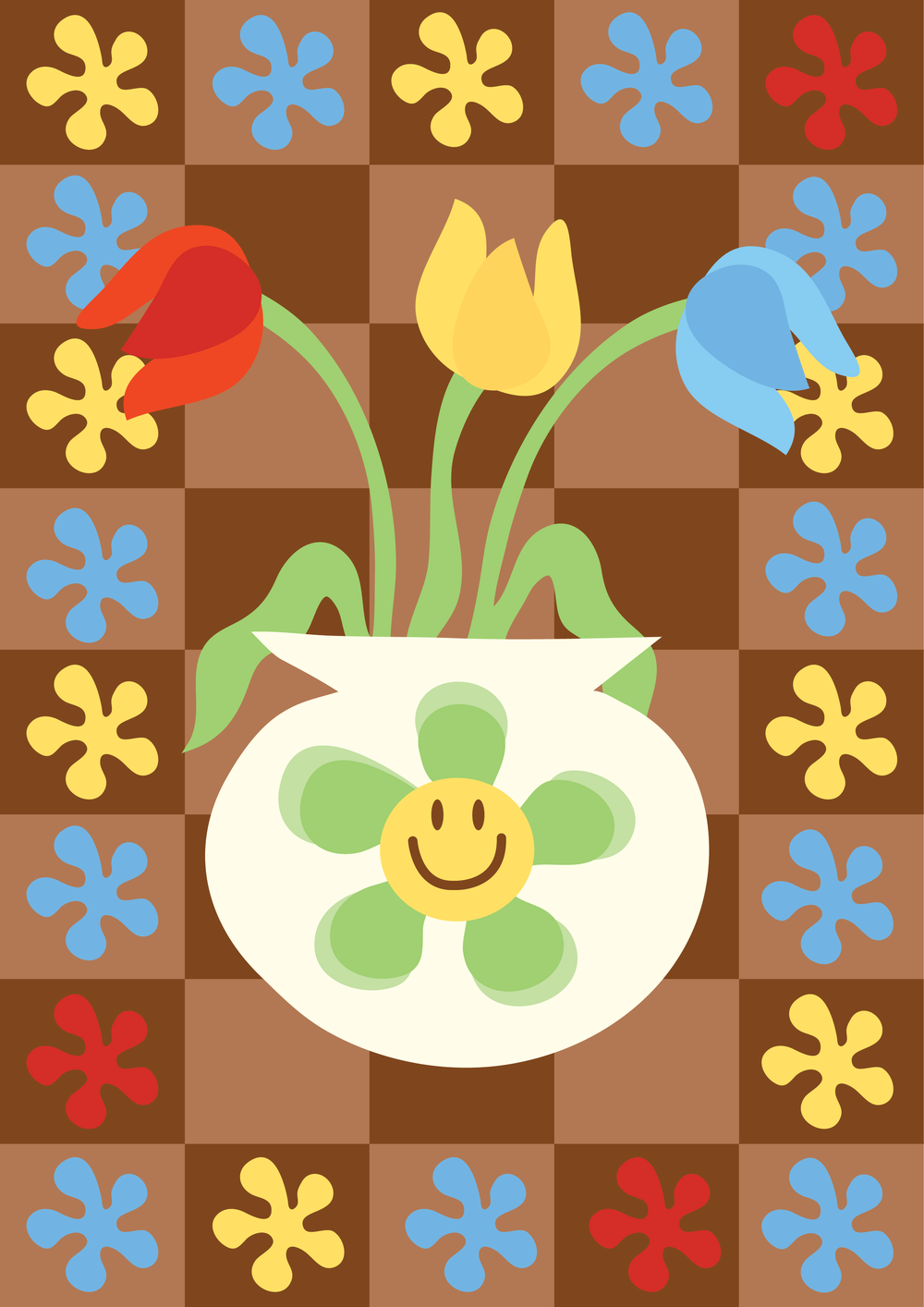 Image of Happy Tulips (brown)