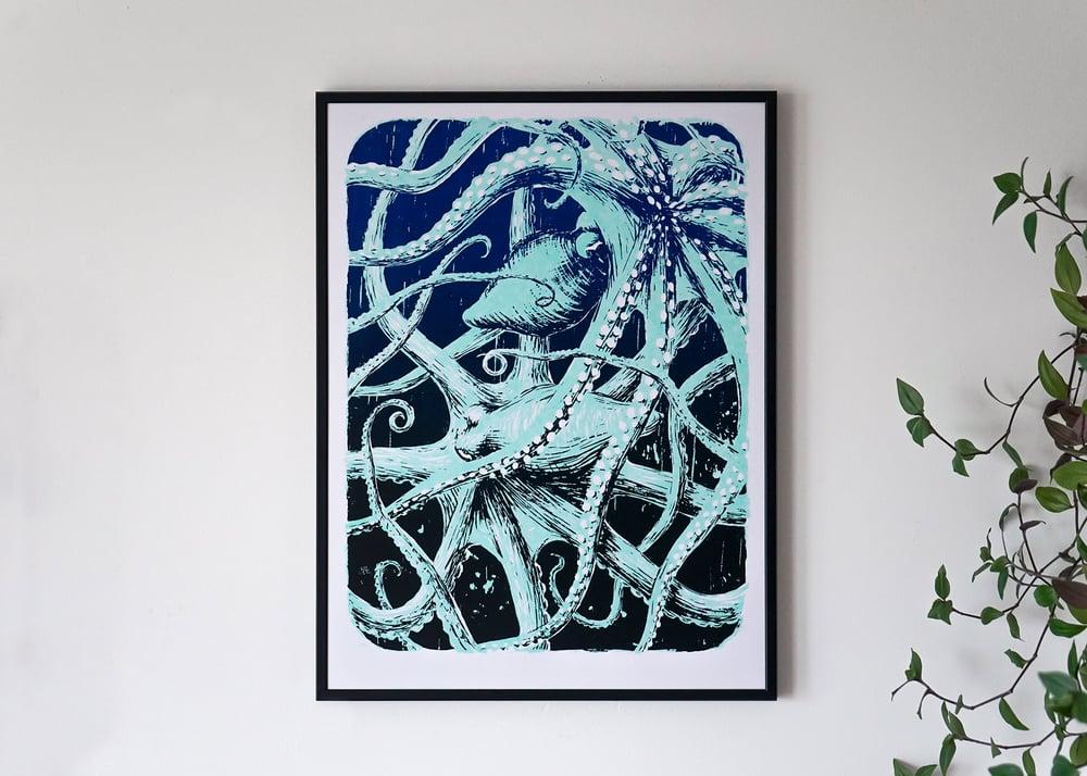 "Image of silkscreen print ""Octopuses"" (glow in the dark)"