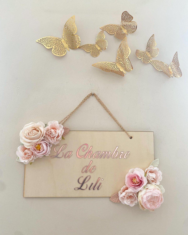 Image of Plaque porte fleurie