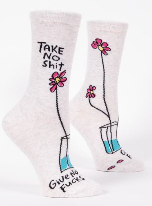 Image of Take No Shit Crew Socks