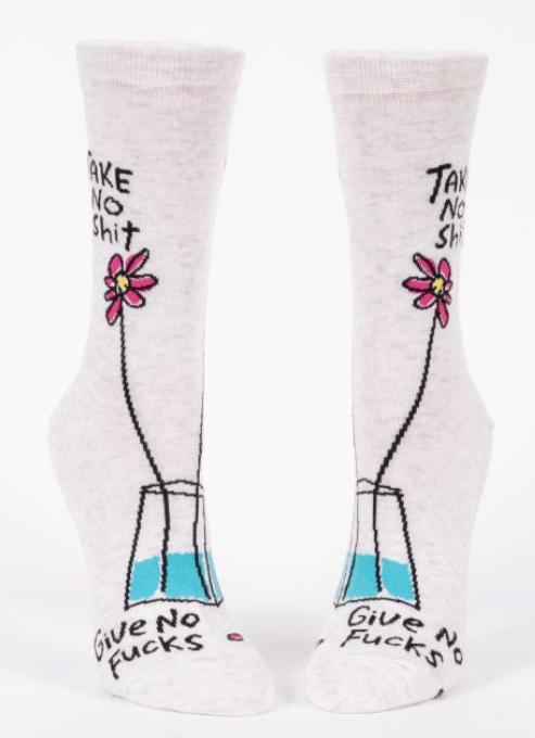 Image of Take No Shit Crew Socks