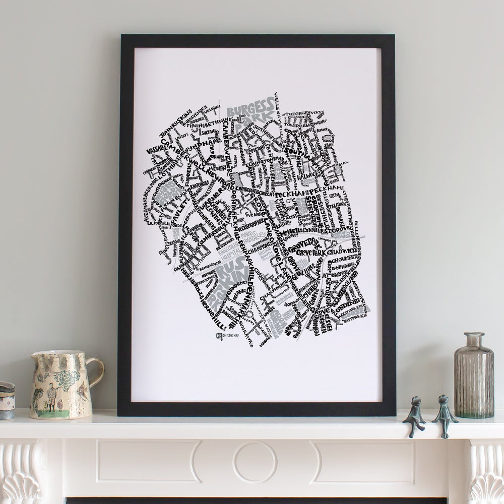 Image of Camberwell & Denmark Hill SE5 - SE London Type Map