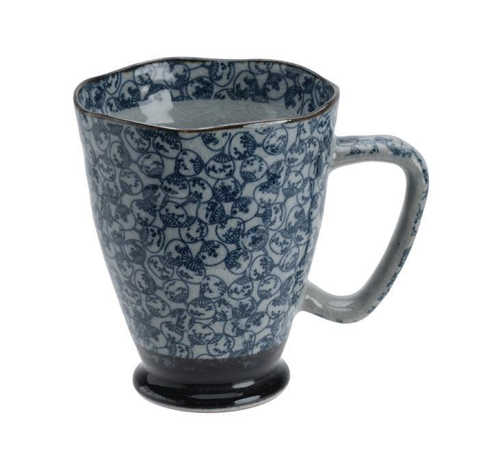 Image of Taza Abanico Japonés Azul