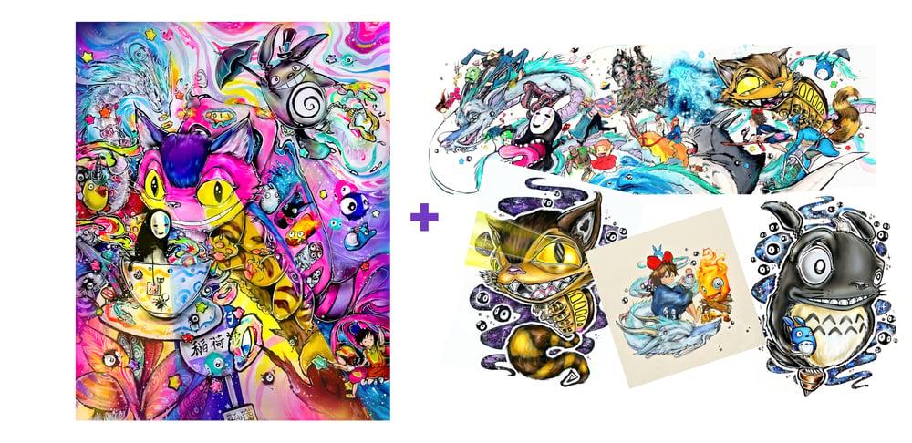 "Image of ""Ghibli in Wonderland"" Holographic Print Pack"