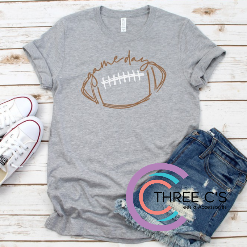 Image of Football Game Day Sketch Tee