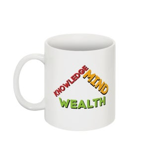 """Image of RZN by RB """" Knowledge, Mind, Wealth"""" classic mug"""