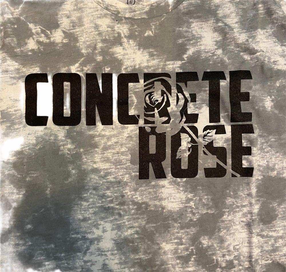 Image of Tie Dye Hidden Rose T Shirt-Grey
