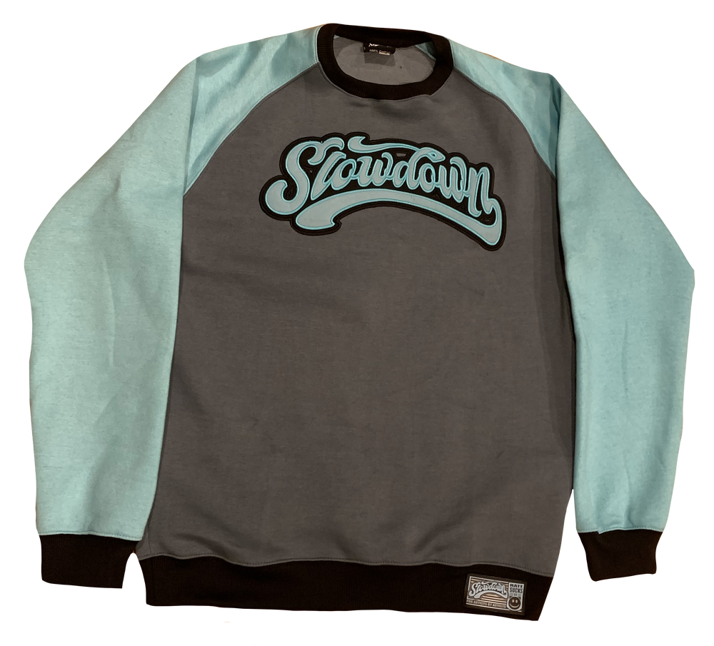 Slowdown appliqué crewneck