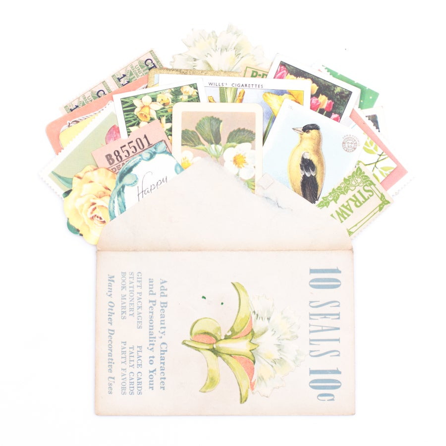 Image of Mini Envelope with Spring Ephemera