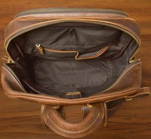 Image of Crazy Horse Leather Backpack Laptop Backpack Travel Backpack ESS3983