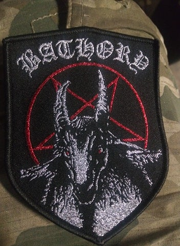 Bathory Goat Shield Woven Patch *imported*