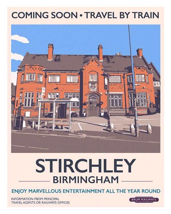 Image of Stirchley retro rail poster