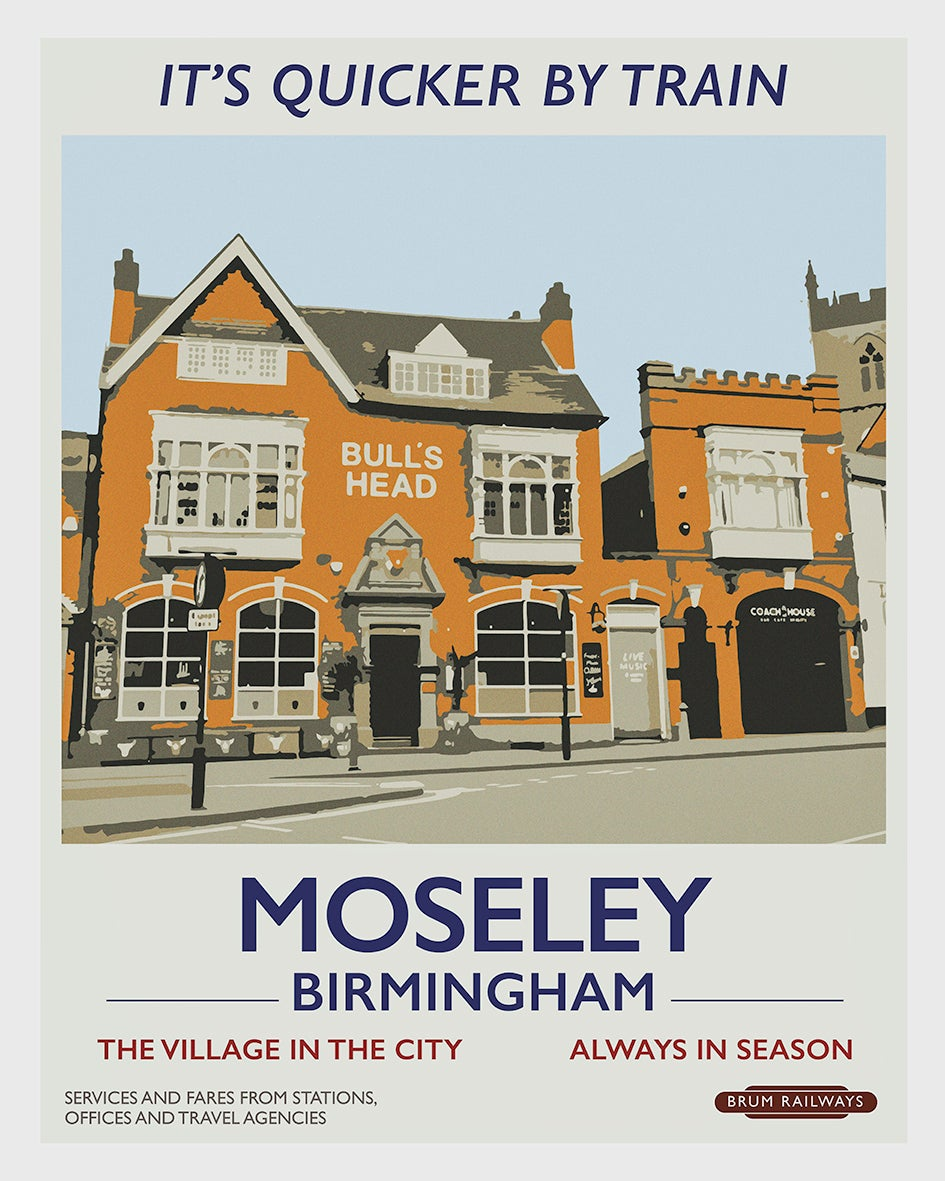 Image of Moseley retro rail poster