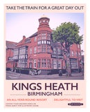 Image 1 of Kings Heath retro rail poster