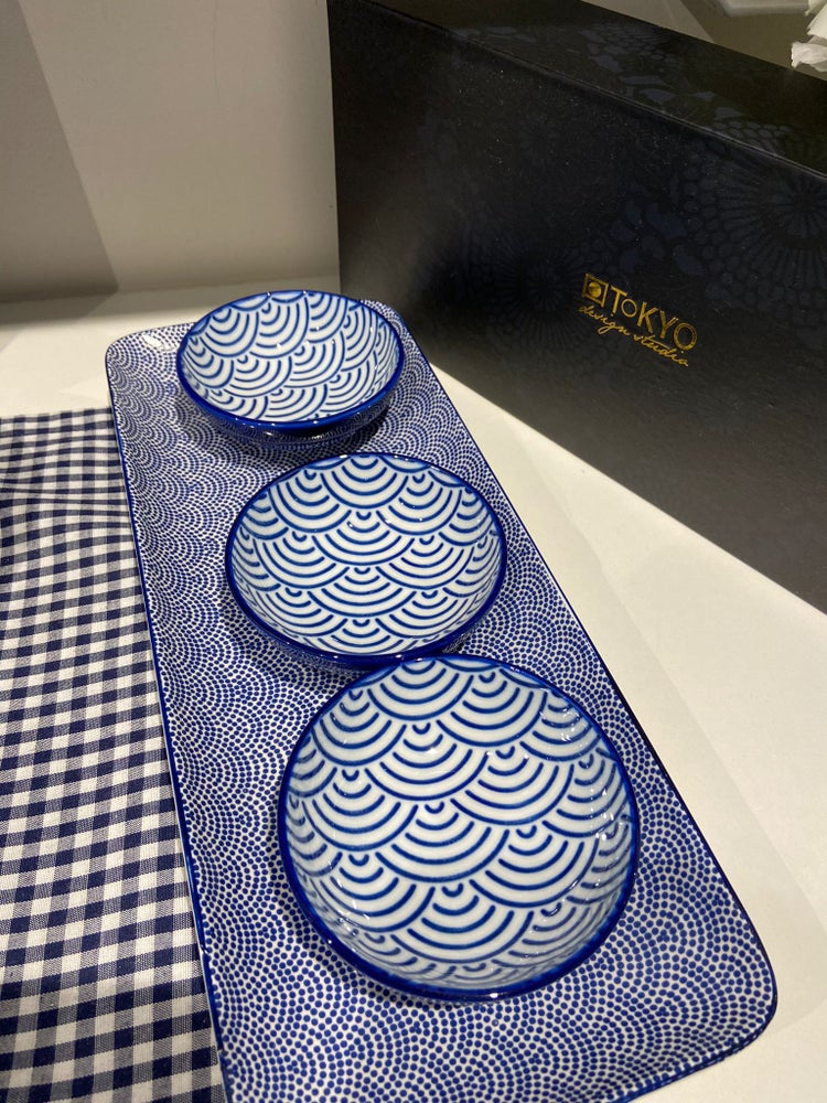 Image of Nippon Blue Giftset Plate